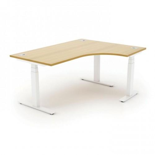 Autonomy Pro Electric Sit/Stand Crescent/Corner Desk 1400X1200X800-600-RH Beech