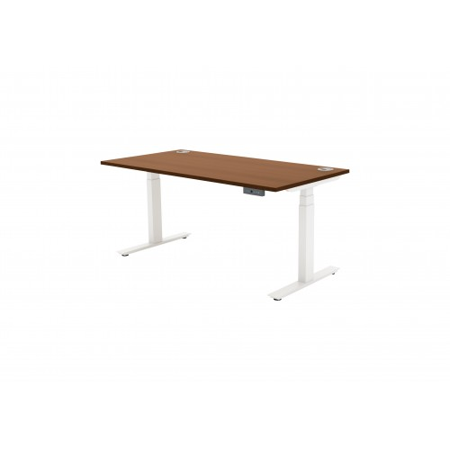 Autonomy Pro Dual Motor Electric Sit/Stand Single Desk 1600X600 Walnut