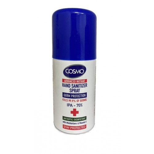 Cosmo Advanced Instant Hand and Surface Sanitiser Spray Kills 99.9% Bacteria, 70% Alcohol, 75ml