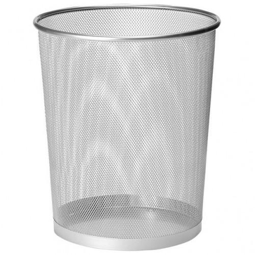 Osco Silver Wiremesh Round Bin 35cm