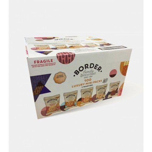 Border Biscuits: Individually Wrapped Biscuit Portion Packs 5 Varieties – 100 Packs Of 2