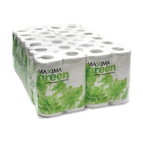 3Ply Disposable Protective Face Masks with FREE Maxima Green Toilet Roll 320 Sheets White [Pack 36]