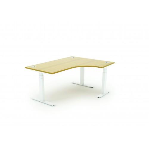 Autonomy Pro Electric Sit/Stand Crescent/Corner Desk 1800X1200X800-600-RH Beech