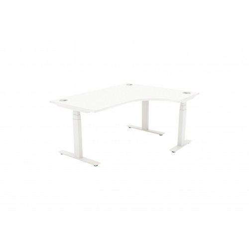 Autonomy Pro Electric Sit/Stand Crescent/Corner Desk 1400X1200X800-600-RH White