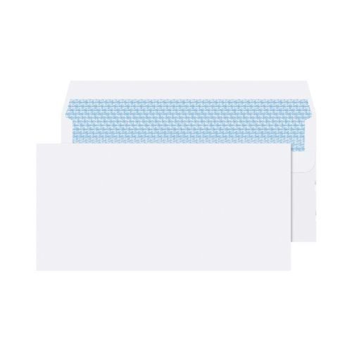 Office Club Envelope DL 110x220mm 90gsm Self SealWhite Wove Pack 100