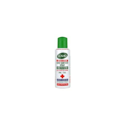 Cosmo Advanced Instant Hand and Surface Sanitiser Spray Kills 99.9% Bacteria, 70% Alcohol, 200ml