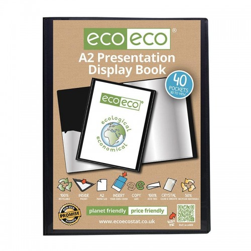 EcoEco A2 50% Recycled 40 Pocket Presentation Display Book