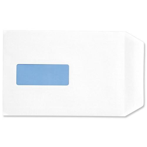 5 Star Eco Envelopes Recycled Pocket Self Seal Window 90gsm C5 229x162mm White Pack 500
