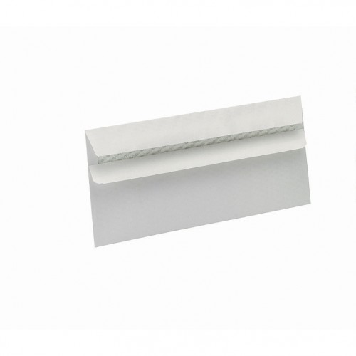 5 Star Eco Envelopes Wallet Recycled Self Seal Window 90gsm DL 220x110mm White Pack 500