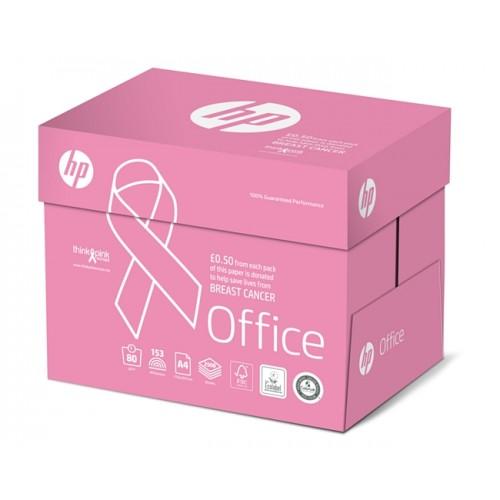 HP Office FSC3 A4 210x297mm 80Gm 2 Pack 500 Pink Ribbon