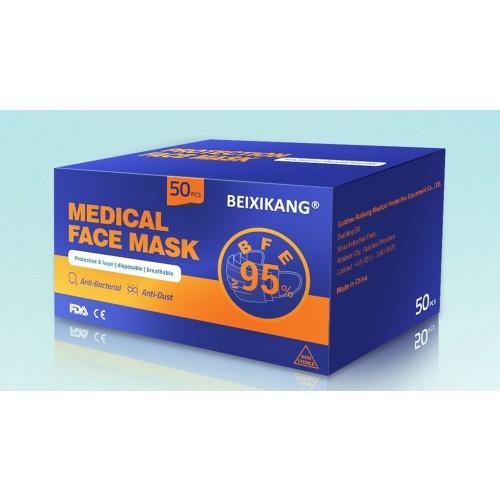 Type II Anti-Bacterial Medical Face Mask EN 14683 Certified [Pack 50]