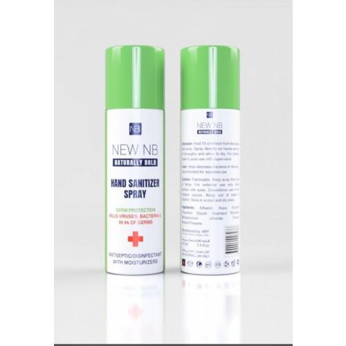 Naturally Bold Hand and Surface Sanitiser Spray Kills 99.9% Bacteria, 70% Alcohol, 60ml