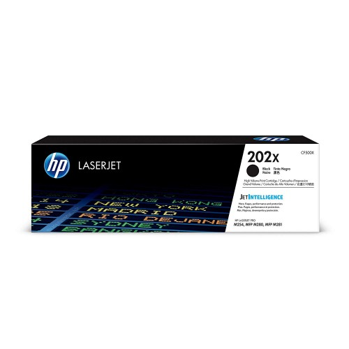 HP 202X (CF500X) Black High Yield Original Toner Cartridge for HP LaserJet Pro M254 M281cdw M281dw