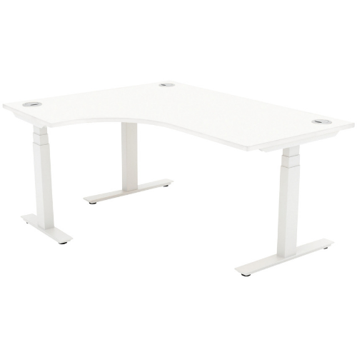 Autonomy Pro Electric Sit/Stand Crescent/Corner Desk 1400X1200X800-600-LH White