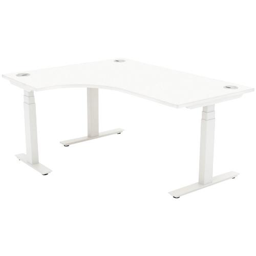 Autonomy Pro Electric Sit/Stand Crescent/Corner Desk 1600X1200X800-600-LH White