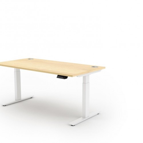 Liberty Electric Sit Stand 1600x800 Desk White/Maple