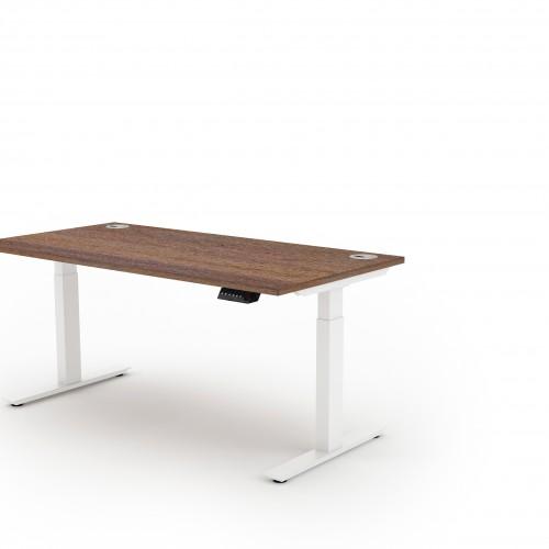 Liberty Electric Sit Stand 1400x800 Desk White/Walnut