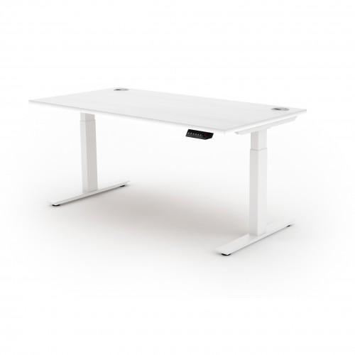 Liberty Electric Sit Stand 1400x800 Desk White/White