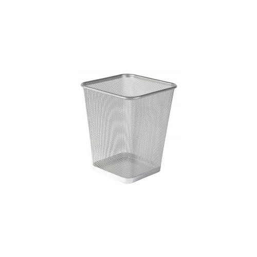 Osco Wiremesh Square Waste Bin Regular 25cm (Silver)