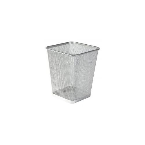 Osco Wiremesh Square Waste Bin Regular 25cm (Silver)