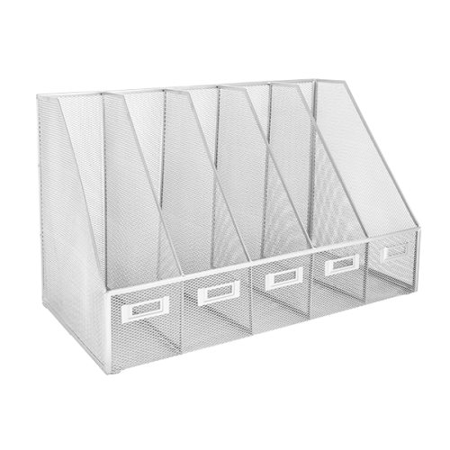 Osco SilverWiremesh 5 Slot File Holder