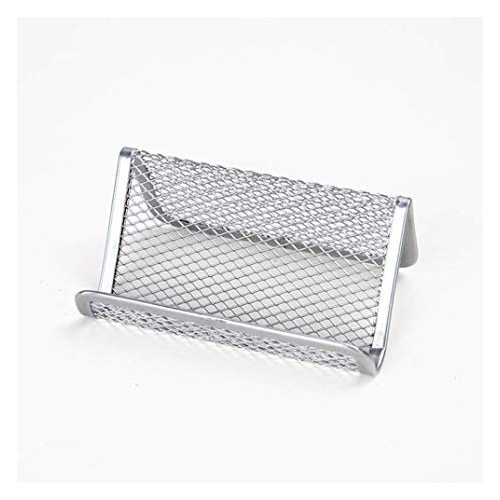 Osco Silver Wiremesh Business Card Holder