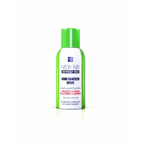 Naturally Bold Hand and Surface Sanitiser Spray Kills 99.9% Bacteria, 70% Alcohol, 120ml