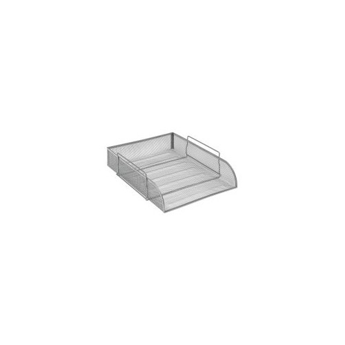 Osco Mesh Letter Tray Stackable Side Load portrait A4 (Silver)