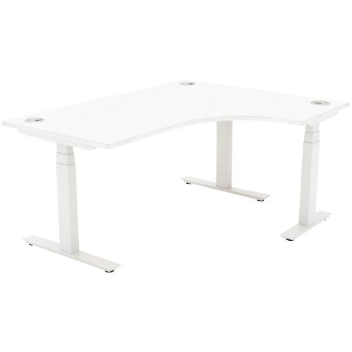 Autonomy Pro Electric Sit/Stand Crescent/Corner Desk 1600X1200X800-600-RH White