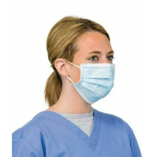 Non-Woven 3-Ply Blue Disposable Face Mask Pk30