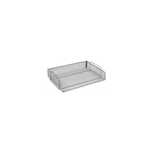 Osco Mesh Letter Tray Stackable Side Load Lscape A4 (Silver)