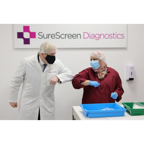 SureScreen COVID-19 Coronavirus Rapid Antigen Lateral Flow Test Dual Saliva/Swab - Government Approved
