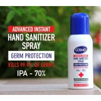 Cosmo Advanced Instant Hand and Surface Sanitiser Spray Kills 99.9% Bacteria, 70% Alcohol, 100ml