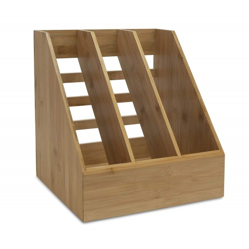 OSCO Bamboo Triple File Holder