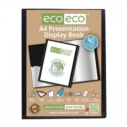 EcoEco A4 50% Recycled 40 Pocket Presentation Display Book