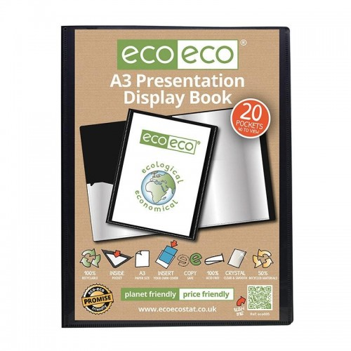 EcoEco A3 50% Recycled 20 Pocket Presentation Display Book