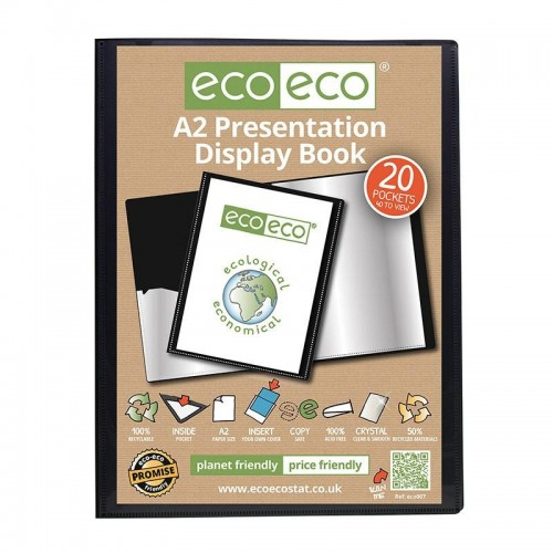 EcoEco A2 50% Recycled 20 Pocket Presentation Display Book