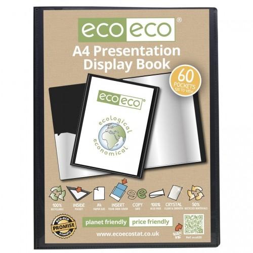 EcoEco A4 50% Recycled 60 Pocket Presentation Display Book