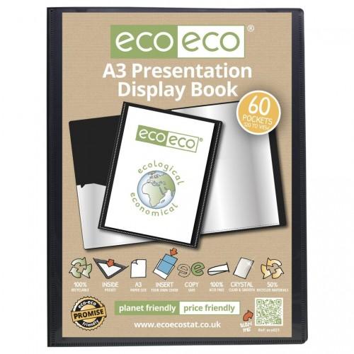 EcoEco A3 50% Recycled 60 Pocket Presentation Display Book