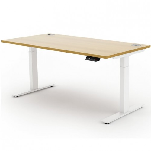 Liberty Electric Sit Stand 1400x800 Desk White/Oak