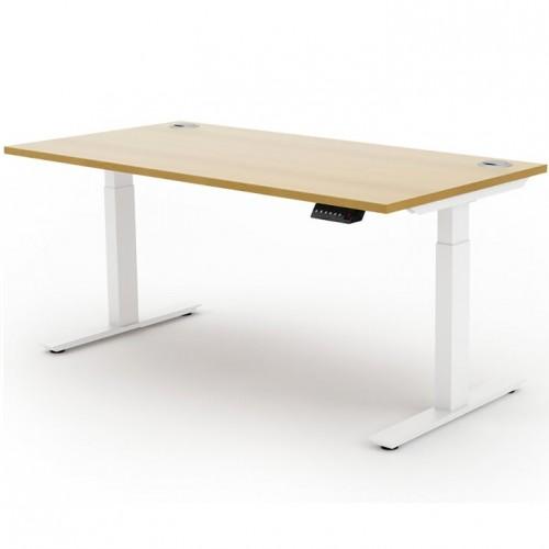 Liberty Electric Sit Stand 1600x800 Desk White/Oak