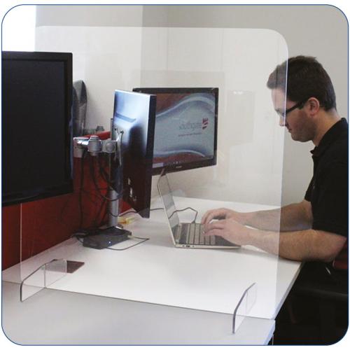 Sneeze Guard Desk Screen 1400x600mm