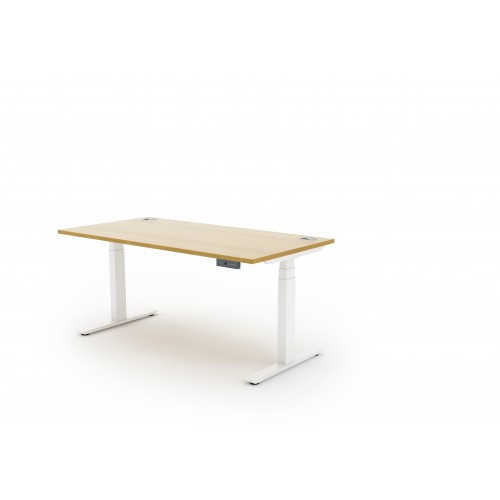 Autonomy Pro Dual Motor Electric Sit/Stand Single Desk 1400X600 White Oak