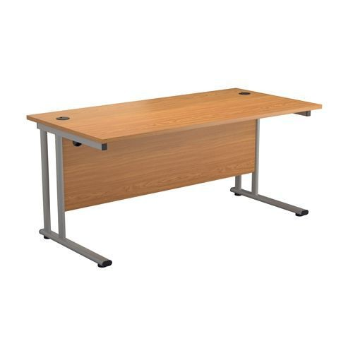 TGO Cantilever Workstation Beech 1200 x 800 Rectangle