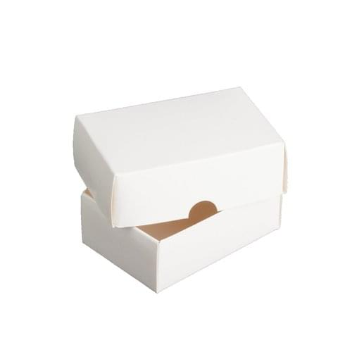White Cardboard Business Card Box 2 Part Flat Pack Pack 500