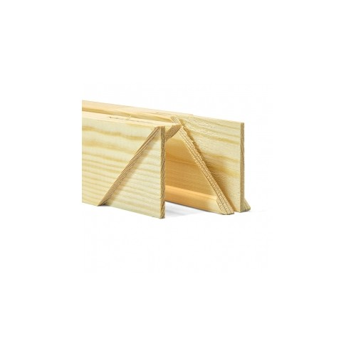 "Standard 18mm UK Pine Stretcher Bars 12"" FSC Pair of 2"