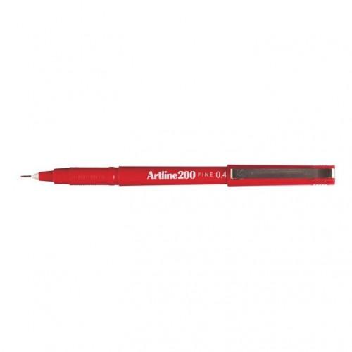Artline 200 Fineliner Pen 0.4mm Red
