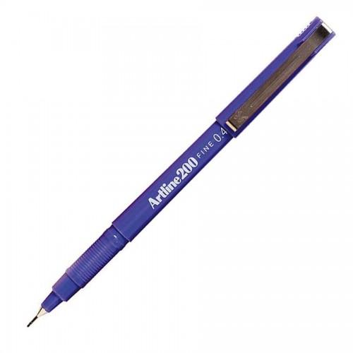 Artline 200 Fineliner Pen 0.4mm Blue