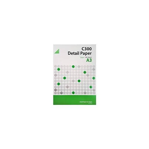 C300 Detail Paper 53gsm A3 Pack of 100 RS001051