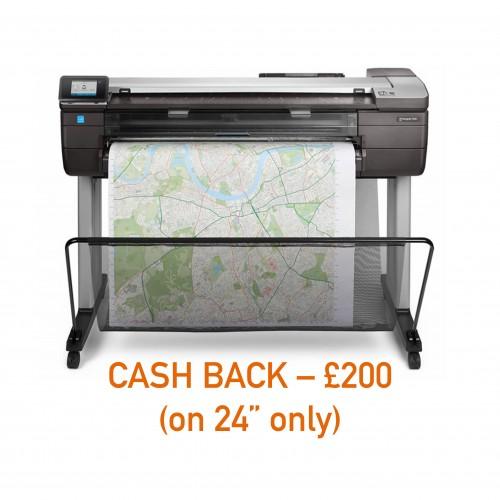 Designjet T830 eMFP Printer - 24in